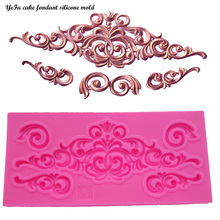 YeFu DIY lace pattern vine Border silicone mold cake decorating  chocolate sugar decoration tools for cake turning edge T0881