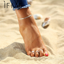 IF ME Vintage Toe Rings Infinity Peace Love Foot Rings Set Gold Silver Color Fashion Bohemia Summer Beach Rings Women Anillos