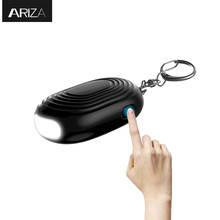 Buy 2018 new designed mini LED light personal alarm keychian women girls kids elderly personal security keychain alarm for $3.90 in AliExpress store