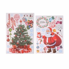 Home Use Merry Christmas Xmas Tree Santa Claus PVC Removable Display Window Showcase Decor Home Kid Room Wall Stickers