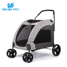 DODOPET large dog StrollerS 360 degree rotation Pet Stroller Four Seasons Four - wheeled Dog Strollers