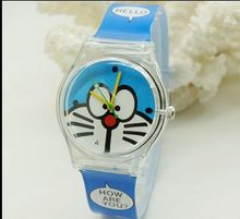 2015 Quartz Silicone Strap Cute Children's Watch Cartoon DORAEMON Wristwatch Leisure Quartz Wrist Watch for kids 30M waterproof
