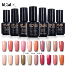 ROSALIND 7ML Nude Color Gel Nail Polish Gel For The Nail Extensions Gel Varnishes Primer Nail Art Design UV&LED Lamp Manicure(China)