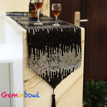 Geminbowl table cover fashion table runner Modern table flag brief dining tablecloth silver paillette