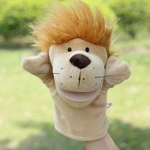 Puppets toy Large plush  children's toy Puzzle hand puppet Lions doll can be open mouth