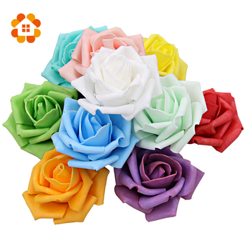 Diameter 6-7 Cm Artificial Foam Roses For Home And Wedding Decoration Flower Heads Kissing Balls For Weddings Multi Color