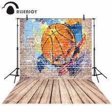 Allenjoy photography background store Graffiti wall theme backdrop Cool basketball pattern Wood flooring background New Arrivals