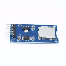 20pcs/lot Micro SD card mini TF card reader module SPI interfaces with level converter chip(China)