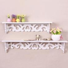 Home Decor Wall Shelf Home Decor Wood White Curved Wall Shelf Holder Storage Stand Cut Out Design