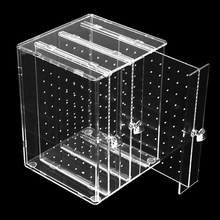 GENBOLI Dustproof Transparent Acrylic C36 Jewelry Storage Holer Box Women Jewelry Earrings Display Stand Rack