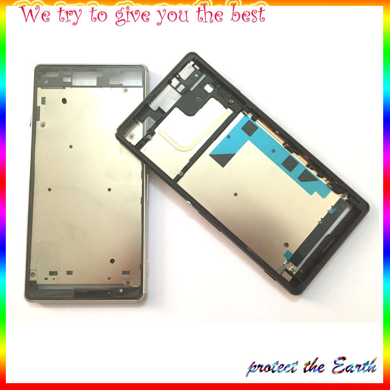 Original New Sony Xperia Z3 L55W D6603 D6653 Middle Frame Bezel Plate Chassis Housing Dust Plug Cover+Logo