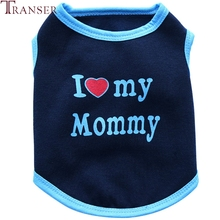 Transer Pet Dog Clothes I LOVE MY MOMMY Dog Vest Tank Top Summer Small Dogs Clothing Pet Supply 71205(China)