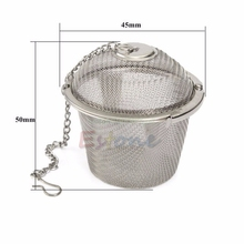 Practical Stainless Steel Tea Strainer Locking Tea Spice Herbal Mesh Balls#T025#
