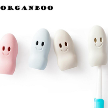 2pc/set Portable travel toothbrush head protective cute toothbrush case toothbrush head cover kit bathroom accessories