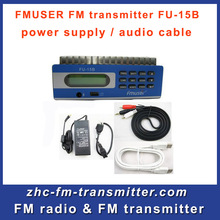 Fmuser FU-15B 15w fm radio audio  transmitter PC Control fm radio station with the power adapter A KIT Free Shipping
