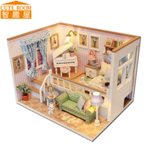 Assemble DIY Doll House Toy Wooden Miniatura Doll Houses Miniature Dollhouse toys With Furniture LED Lights Birthday Gift M026
