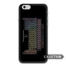 Chemical Chemistry College Periodic Tables Case For iPhone 7 6 6s Plus 5 5s SE 5c 4 4s and For iPod 5
