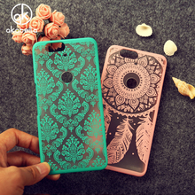 Akabeila New Style Damask Vintage Flower Pattern Phone Case For Huawei Nexus 6P 4G FDD LTE Mobile Phone Fundas Carcasa Capa(China)