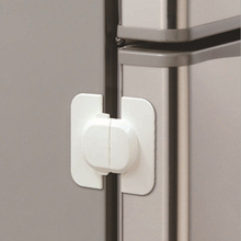 HUXUAN 1PCS Baby Safety lock Fridge Drawer Cupboard Cabinet Door Drawer Lock Latch with Double sided Adhesive white On Sale(China)