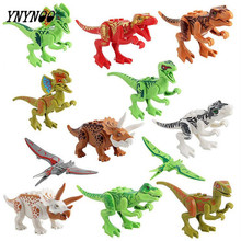 YNYNOO 12Pcs/lot Dinosaurs of Jurassical World Figures Movie Building Blocks Models & Building Toys Gift For Children BL189(China)