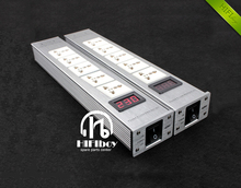 New pattern LED High quality Advanced Audio Power Purifier Filter AC Power Socket universal Power filter