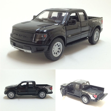 New High Simulation Diecast Toy Vehicles Car Styling Ford F150 Raptor Pickup Truck 1:46 Alloy Diecast SUV Model For Kids Gifts(China)