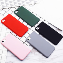Ultra Slim Frosted Hard Scrub Case Pure Color Coque Matte Plastic Phone Cases Cover For iPhone 7 7Plus 5 5S SE 6 6S Plus 6Plus