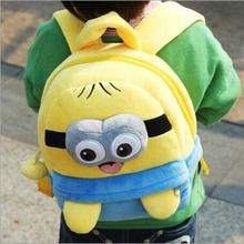 Kawaii 3D Animal Plush Backpack Children Cute Shoulder Cartoon School Bag Minions Baymax Minnie Spongebob Bag 2 Sizes
