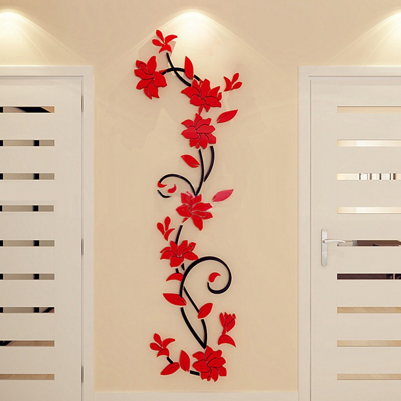 HTB1TPiavAOWBuNjSsppq6xPgpXa0 - Hoomall Acrylic Flower Wall Stickers Poster New Year Decorations Removable Stickers for Kitchen DIY Wall Stickers for Kids Rooms