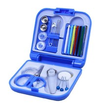 New Sewing Kits Box Mini Needle Threads Buttons Scissor Thimble Portable Home Tools Travel Set