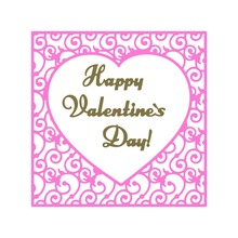 Adv-one 135*135mm Happy Valentines scrapbooking DIY Sharp Metal Carbon steel cutting die Book photo album art card Dies Cut(China)
