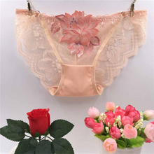 Buy underwear women sexy panties lace transparent womens briefs panty Embroidered seamless panties lingerie intimates size MY17
