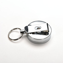 Metal Card Badge Holder Steel Recoil Ring Belt Clip Pull Key Security Chain Reel ID Lanyard Name Tag Badge Holder Retractable(China)