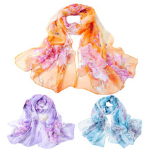 Fashion Chinese style Lady Long Soft Wrap Women's Shawl Chiffon Scarf Scarves Spring Autumn Summer Scarves For Women Accessories