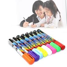 8 Color Fluorescent Pens Highlighter Pen Fluorescent Neon Marker Pens Blackboard Glass Office Supplies