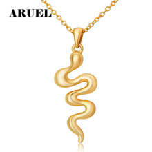 Buy ARUEL Fashion Jewelry Gold/silver Color Snake shape pendant Zircon Polished Necklaces&Pendants Bijoux unique Women Birthday for $1.49 in AliExpress store