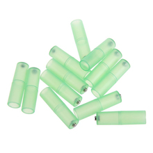 12pcs Battery Convertor Adapter Size AAA R03 to AA LR6 Battery Convertor Case Holder (Green)