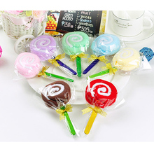 2015 Hot New Cute MINI Lollipop Baby Bridal Cotton Washcloth Towel Party Wedding Xmas Gift Colorful