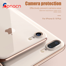 Luxury Soft TPU case For iPhone 8 7 Plus 6 6S Cover Silicone Transparent case Full Cover For iPhone 6 6S Plus 8 7 Protective(China)