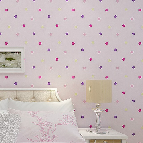 Cartoon Dots Baby Room Wallpaper Roll for Boys and Girls DZK178 papel de parede kids  infantil<br><br>Aliexpress