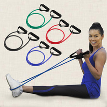 New High Quality Fitness Resistance Band Rope Tube Elastic Exercise for Yoga Pilates Workout New Brand