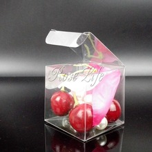 100Pieces/lot Clear Square Wedding Favor Gift Box Transparent Party Candy Bags Wholesales
