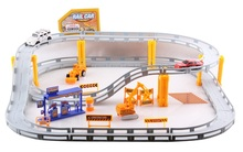 Rail car toy Multilayer railcar kids toys Thomas electric train track toy Toys with engineering vehicle airport model