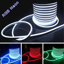 100m/lot Flex LED Neon light 80leds/M ac110v 220V 240V Flexible led neon flex rope bar light RGB soft tube lamp outdoor lighting
