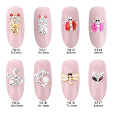 MNS59 New nail designs animal ladybug shape silver 3d alloy nail art decoration jewelry floating locket charms supplies 10pcs