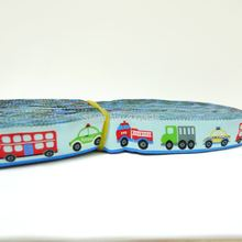 5/8'' 16mm Wide Bus Fire Truck Police Car Light Blue tone Woven Jacquard Ribbon Free shipping via DHL EXPRESS(China)