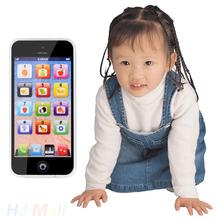2016 Baby Toy Phone Mobile Simulator Music Phone Touch Screen Children Toy Electronic Learning Model 2 colors  Black White