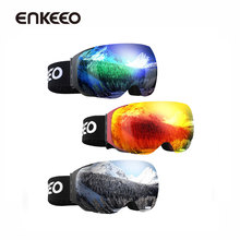 Enkeeo Ski Goggles Detachable Dual Layer UV400 Anti-fog Glasses Skiing Men Women Snow Snowboard Goggles Frame Ski Eyewear Glass(China)
