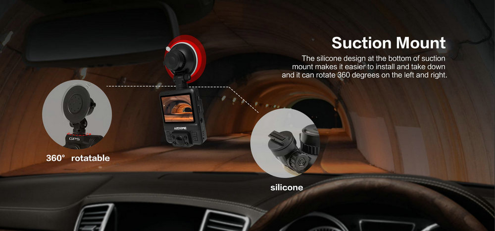 Azdome GS65H Mini Dual Lens Car DVR Camera 1080P Full HD Dash Cam Novatek 96655 Video Recorder G-sensor Night Vision 11
