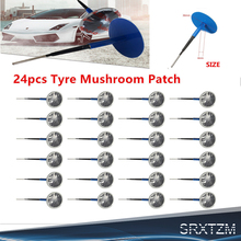 24pcs Tyre Puncture Repair Wired 4mm Plug Patch Mushroom Car Van Quad Trike tubeless tire repair kit(China)